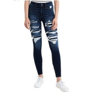 American Eagle Ripped Style Jeggings Skinny Jeans